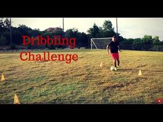 This video demonstrates the soccer dribbling challenge. Comment your scores below.
