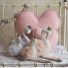 Scarlett & Sophia // These adorable swan ballerinas by Nana Huchy arrived this week. They make a stunning feature in a bedroom no matter the theme. 💗 . . Check them out in the what\'s new section of our store.  Heart cushions also available. . . . . . #swans #swanlake #swantoy #swanballerina #ballerina #girlsbedroomdecor #girlsinteriors #girlsdecor #sweetlittledreams #afterpaystore #zippay #gorgeousgift #kidsgiftideas #girlsgiftidea