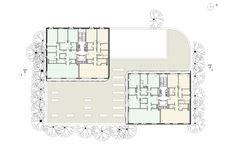 План 1-6 этажей © Сергей Скуратов ARCHITECTS