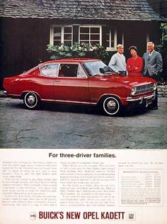 1966 Buick Opel Kadett Sport Coupe original vintage advertisement. Imported from Germany by Buick. Original MSRP for this model started at $1,803, f.o.b. West Coast.