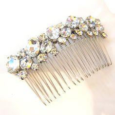 BRIDAL  Wedding Hair Comb Accessories White by FloweryDeer on Etsy, $38.00