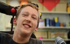 A 19-year-old with cerebral palsy is a professional video editor, despite having no control of his limbs. He left a crowd speechless atthe 7thInternational Carers Conference when he edited a video live on stage… using his head.