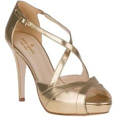 KATE SPADE Get Evening Pump Old Gold Leather
