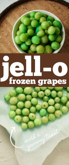 An easy and delicious (and somewhat healthy) snack option, hop over to the blog to learn how to make jello frozen grapes! We love these as a summer treat, so refreshing on a hot day! Healthy Snack Options, Healthy Snacks, Snack Recipes, Dessert Recipes, How To Make Jello, Frozen Grapes, Good Food, Yummy Food, Wonderful Recipe