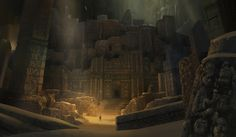 ArtStation - Yong Park's submission on Ancient Civilizations: Lost & Found - Environment Design
