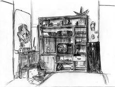 Meubles à l'intérieur d'une chambre d'appartement