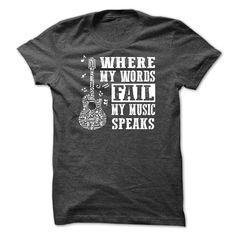 (Tshirt Deal Today) Music Speaks [Teeshirt 2016] Hoodies, Funny Tee Shirts