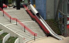Railway station slide, Utrecht