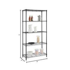 Dry Food Storage, Wire Storage, Garage Storage, Storage Shelves, Storage Spaces, Steel Shelving Unit, Heavy Duty Shelving, Wire Shelving Units, Black Shelves