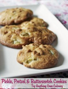 Pickle, Pretzel and Butterscotch Cookies are a surprisingly delicious sweet and savory combination!  #cookies #sponsored
