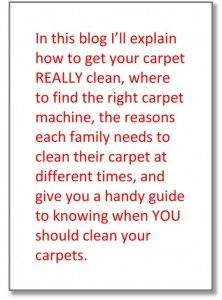 How Do I Get My Carpet REALLY Clean?