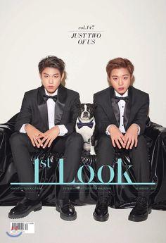 Wanna One's Park Ji Hoon & Park Woo Jin pose for their coming-of-age party in Look' Korean Age, Park Bo Gum, You Are My Life, Monsta X Kihyun, Lee Daehwi, Kim Woo Bin, Kim Jaehwan, Ha Sungwoon, Sanha