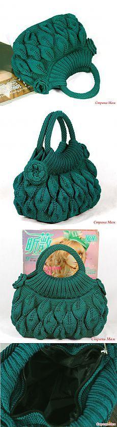 Алисумка с листьями - Вязание - Страна Мам