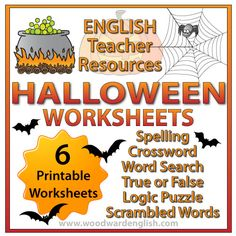 Halloween Worksheets for Kids | Woodward English