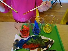 One Fish Two Fish Red Fish Blue Fish - Activity: Use only 'primary' colors to paint a fish... talk about color combinations.