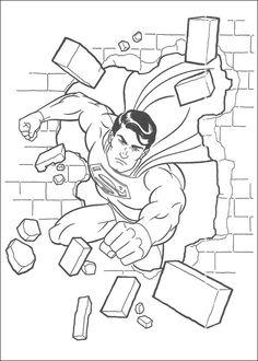 Dibujos para Colorear Superman 33