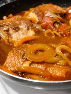 BROWN STEW FISH (fish and gravy) recipe gateway: this post's link + www. BROWN STEW FISH (fish and gravy) recipe gateway: this post's link + www Jamaican Cuisine, Jamaican Dishes, Jamaican Recipes, Stew Fish Recipe Jamaican, Bahamian Stew Fish Recipe, Haitian Fish Recipe, Jamaican Chicken, Fish Dishes, Seafood Dishes