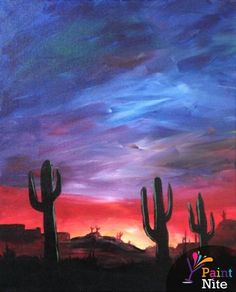Paint Nite Phoenix | Desert Rays Cafe April 3