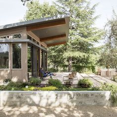 A Homeowner Uses Smart Technology to Manage His Napa Property from Anywhere - Exterior of the Stillwater Dwellings prefab in Napa Modular Homes, Prefab Homes, Stillwater Dwellings, Indoor Outdoor, Outdoor Decor, Outdoor Spaces, Smart Technologies, Modern Architecture, Pergola