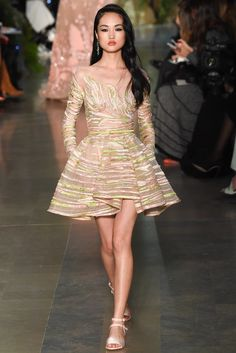 Elie Saab Spring 2015 Couture Fashion Show - Jing Wen (Elite)