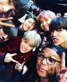 Hey I think this is BTS! @bts_ @thebangtanboys One of em shouted #TGOD so I had to take a pic.  K-POP.... #mnetasianmusicawards @mnetkr !!!