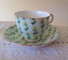 Vintage Adderley Teacup and Saucer set by LosChapines on Etsy