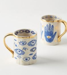 Anthropologie Insight Mug I love these spiritual mugs! Would make a great gift idea for spiritual people. Isle Of Man, Hamsa, Deco Bobo, Anthropologie Mugs, Quirky Gifts, Unique Gifts, Homewares Online, Kitchen Collection, Color Of The Year