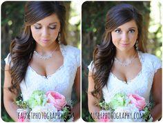 half up half down brown hair bride