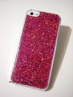 Luxury Bling Cover Case for iPhone Real GLITTER Holographic Sparkle Sparkly Glam