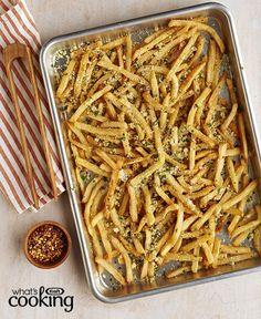 Garlic-Parmesan Fries #recipe
