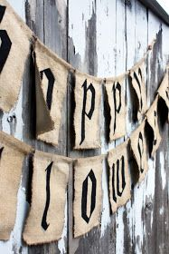 Sweet Something Designs: Pottery Barn Inspired Halloween Garland