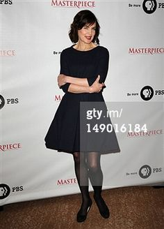 elizabeth mcgovern wearing Henrietta Ludgate wool crepe  dress