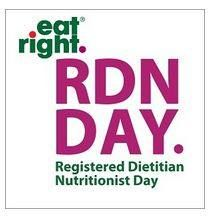 If you see a Registered Dietitian Nutritionist today, give them a pat on the back.