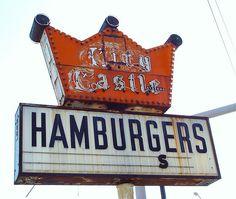 City Castle Hamburgers Ghost Neon Sign - Gary, Indiana - 5/17/09 by randomroadside, via Flickr