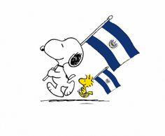 Snoopy Ama a El Salvador! (Snoopy in El Salvador) El Salvadorian, El Salvador Food, Flag Coloring Pages, Snoopy Love, Flags Of The World, Central America, Fun Facts, Taiwan, Funny Memes