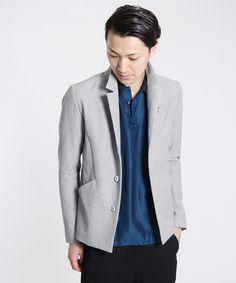 Kazuyuki Kumagai Attachment – Stretch Cotton, Linen, Silk blend jacket (Black)