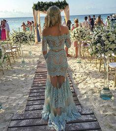 madrinha de casamento praia