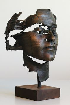 Sophie Kahn Head of a Young Woman, bronze