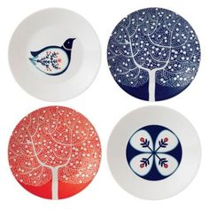Royal Doulton fine china 'Fable' set of four accent plates at debenhams.com