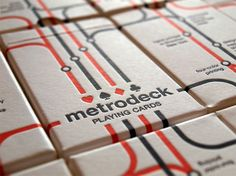 "MetroDeck upcycled NYC MTA Subway cards made into playing cards. They are so beautiful and detailed! They are hand silk screened with enamel ink - ""Printed on found and repurposed New York City subway fare cards, Metro Deck attempts to visually capture the common thread between commuters, public transportation, and chance. Every card has been gathered at random, after having been purchased, used, and discarded by either a visitor or resident of New York City."