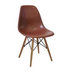 Cadeira Eames PP Café Base Madeira