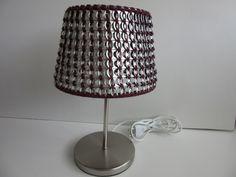 Door mij, met treklipjes gehaakt, lampenkapje - eigen ontwerp