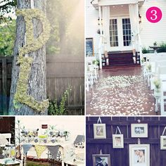 Love this sweet and pure backyard wedding theme.