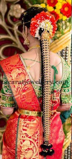 Jewellery Designs: Bride in Latest Kundan Lakshmi Jada