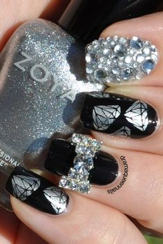 """Nails! """"I've never seen a diamond in the flesh"""" until now! love them"""