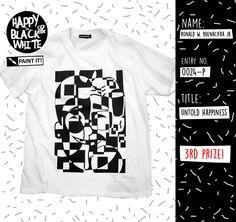 Artwork T-shirt Contest, 3rd Prize Winner! #tees #tshirtcontest #artworktshirts #blackandwhite