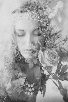 Trendy Flowers In Hair Editorial Photography 42 Ideas Creative Photography, Editorial Photography, Art Photography, Photography Flowers, Fotos Strand, Exposition Photo, Double Exposure Photography, Multiple Exposure, Photoshop