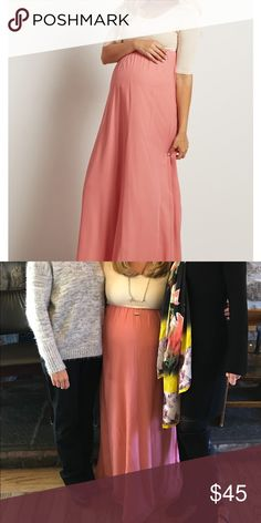 Pink Blush Maternity Dress Blush Pink Chiffon Colorblock Maternity Maxi   Only worn once to my shower! Excellent condition and super comfortable. I'm 5'3 and am wearing flats in photos. Got a ton of compliments on the dress. Pinkblush Dresses Maxi