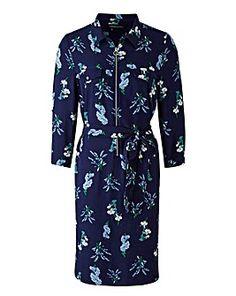 Floral Print Zip Shirt Dress