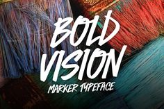 Introducing Bold Vision. As the title suggests, this font was created with boldness in mind. It is built to grab peoples attention, and add nice character and flair to your design. Everything in the font was hand drawn. Bold Vision works especially well f…
